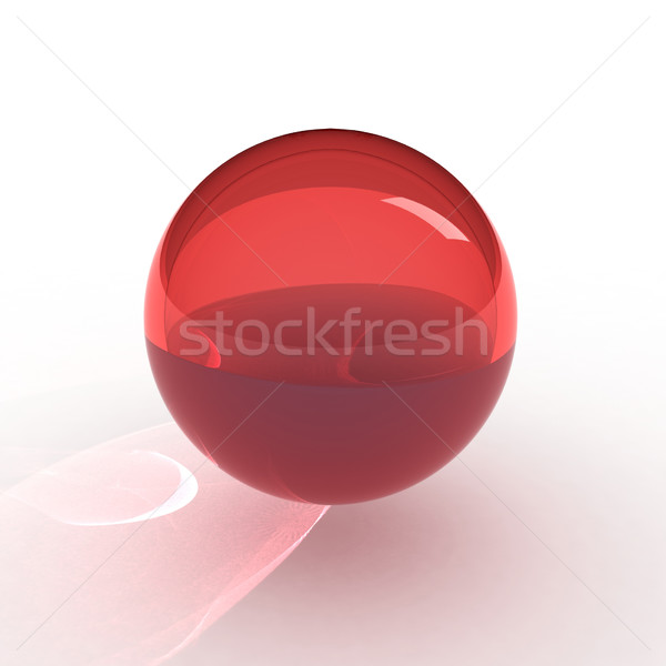 3d render of red ball Stock photo © montego