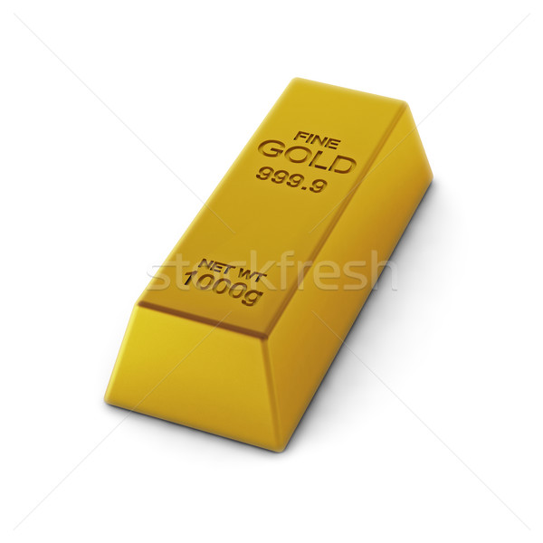 3d render of golden bar Stock photo © montego