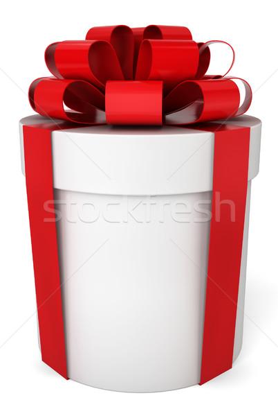 Foto d'archivio: Scatola · regalo · illustrazione · 3d · bianco · felice · shopping · segno