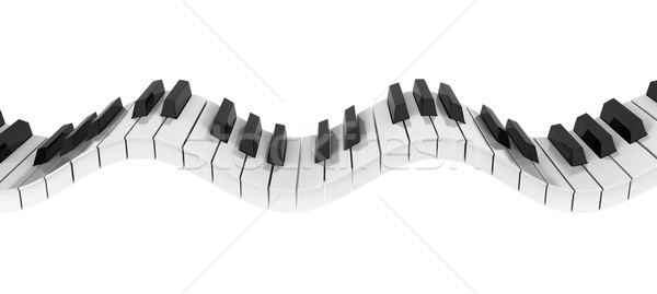 Piano keyboard wave Stock photo © montego