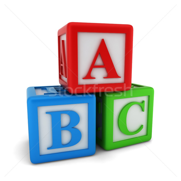 Abc cubes Stock photo © montego