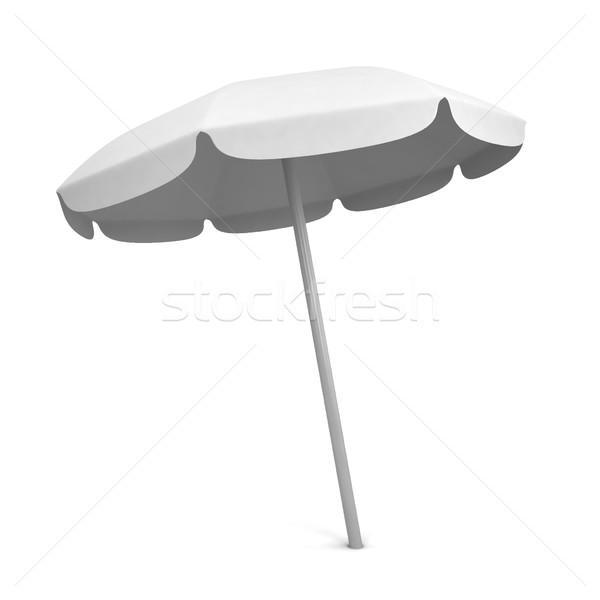 Ombrellone illustrazione 3d isolato bianco sfondo viaggio Foto d'archivio © montego