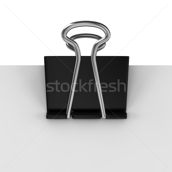 Paper clamp on sheet of paper Stock photo © montego