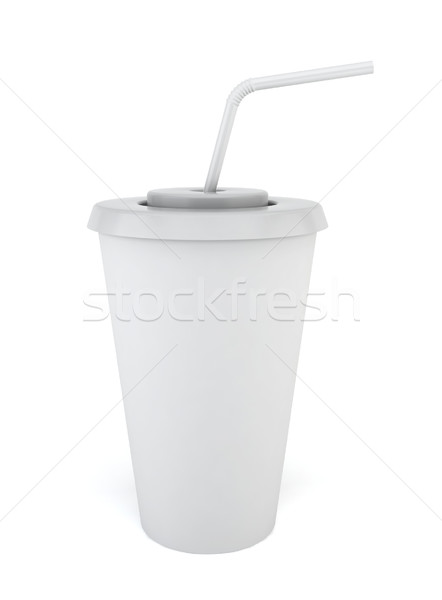 Drink cup with straw Stock photo © montego