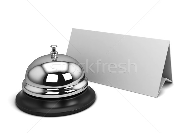 Reception bell and card Stock photo © montego