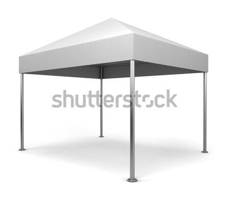 Tent 3d illustration geïsoleerd witte business auto Stockfoto © montego