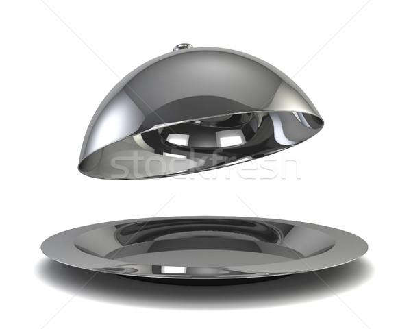 Argento illustrazione 3d isolato bianco design metal Foto d'archivio © montego
