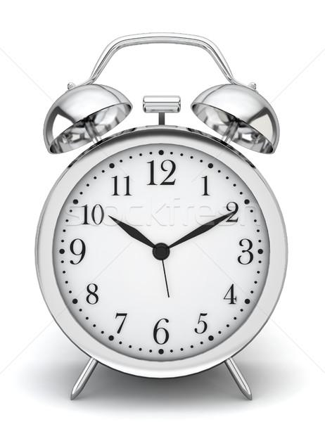 Sveglia illustrazione 3d bianco ufficio sonno anello Foto d'archivio © montego