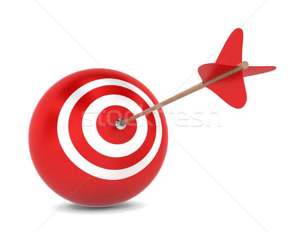 Arrow sferico illustrazione 3d bianco sport Foto d'archivio © montego