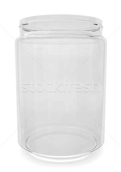 Empty glass jar Stock photo © montego