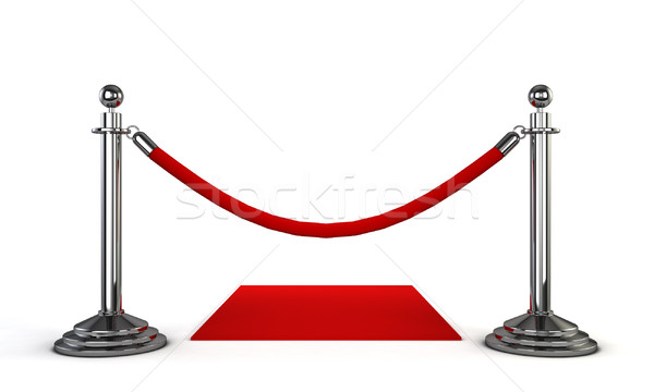 Tapis rouge 3d illustration isolé blanche fond star Photo stock © montego