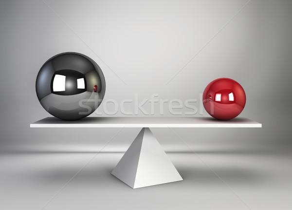 Two spheres in balance Stock photo © montego