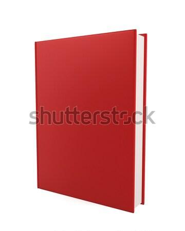 Foto stock: Livro · ilustração · 3d · branco · papel · fundo · espaço