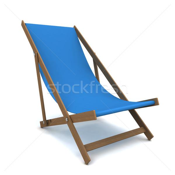 Sedia a sdraio illustrazione 3d isolato bianco acqua legno Foto d'archivio © montego