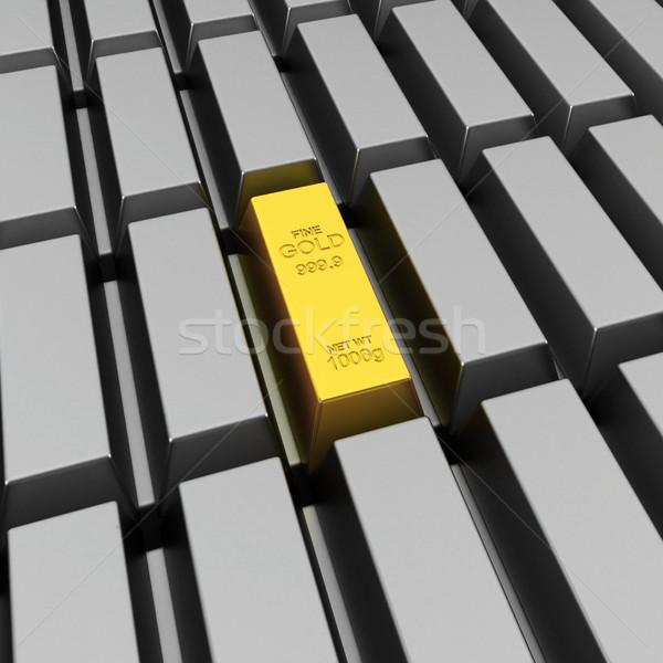 Unique gold bar Stock photo © montego