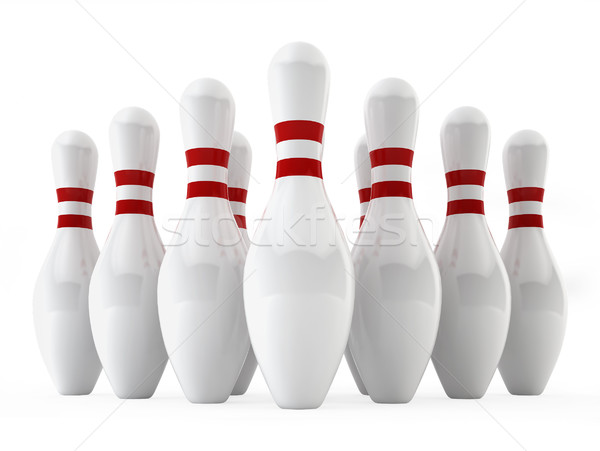 Bowling pins Stock photo © montego