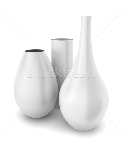 Set of three modern vases Stock photo © montego