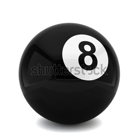 De bilhar oito bola ilustração 3d branco globo Foto stock © montego
