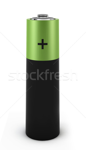 Verde bateria 3d render branco tecnologia energia Foto stock © montego
