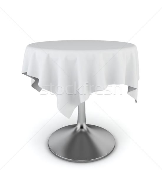 現代 表 テーブルクロス 3次元の図 白 ディナー ストックフォト © montego