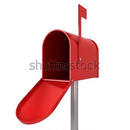 Pusty poczty 3d ilustracji odizolowany biały działalności Zdjęcia stock © montego