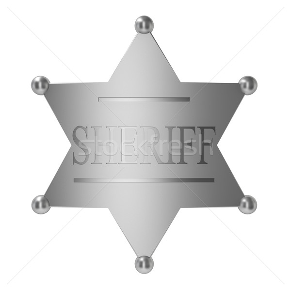 Sheriff badge Stock photo © montego