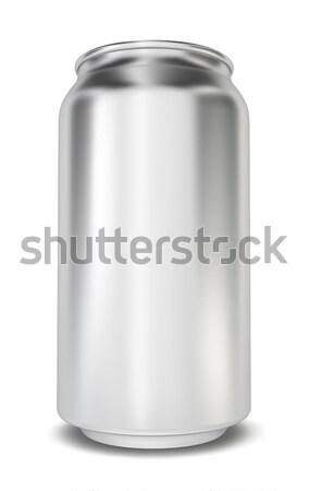 Può illustrazione 3d bianco metal energia cool Foto d'archivio © montego