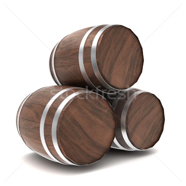 Wooden barrels Stock photo © montego