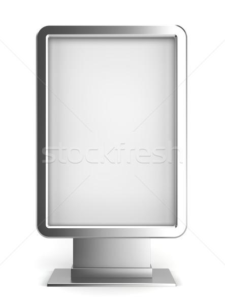 Verticale cartellone illustrazione 3d bianco strada frame Foto d'archivio © montego