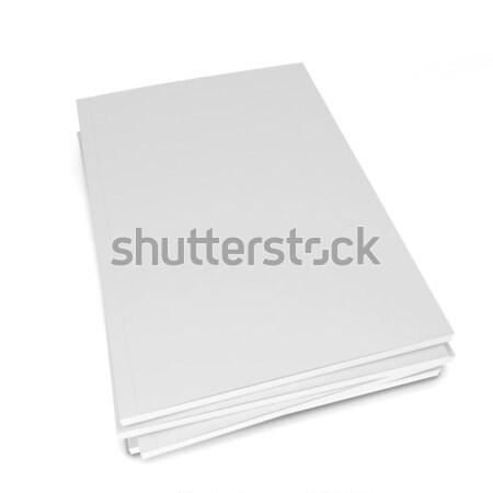 Riviste 3D immagine isolato bianco business Foto d'archivio © montego