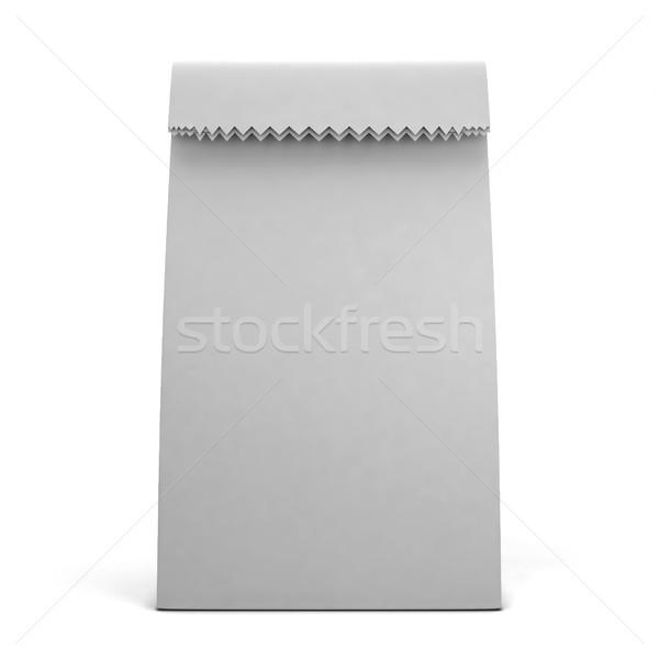Torby papierowe 3d ilustracji odizolowany biały tle przestrzeni Zdjęcia stock © montego