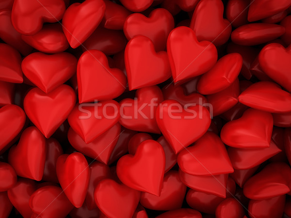 Many red hearts Stock photo © montego