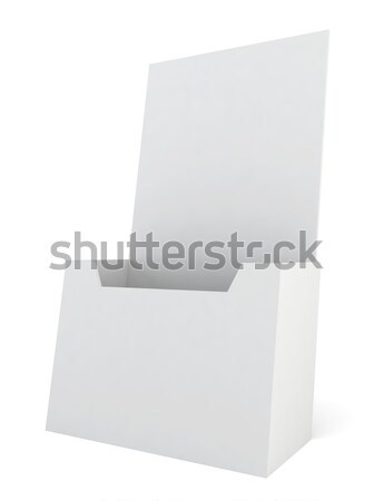 Stock fotó: Brosúra · 3d · illusztráció · fehér · üzlet · felirat · kommunikáció