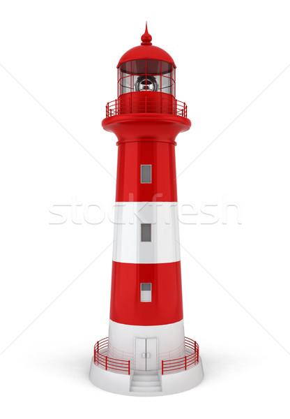Faro illustrazione 3d bianco cielo costruzione luce Foto d'archivio © montego