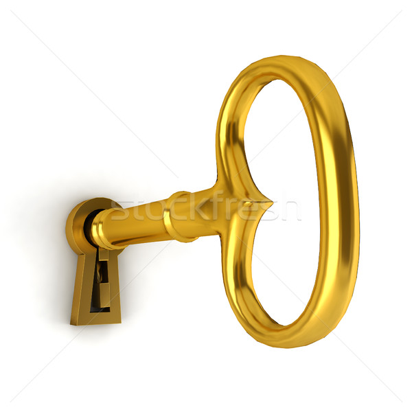 Key in a keyhole Stock photo © montego