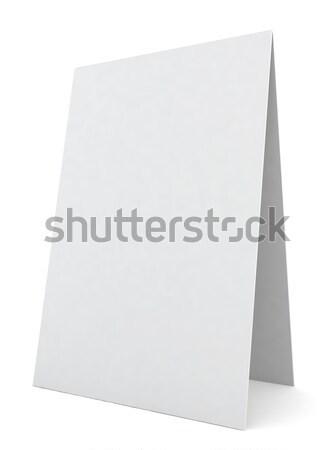 Bianco desk display illustrazione 3d spazio notebook Foto d'archivio © montego