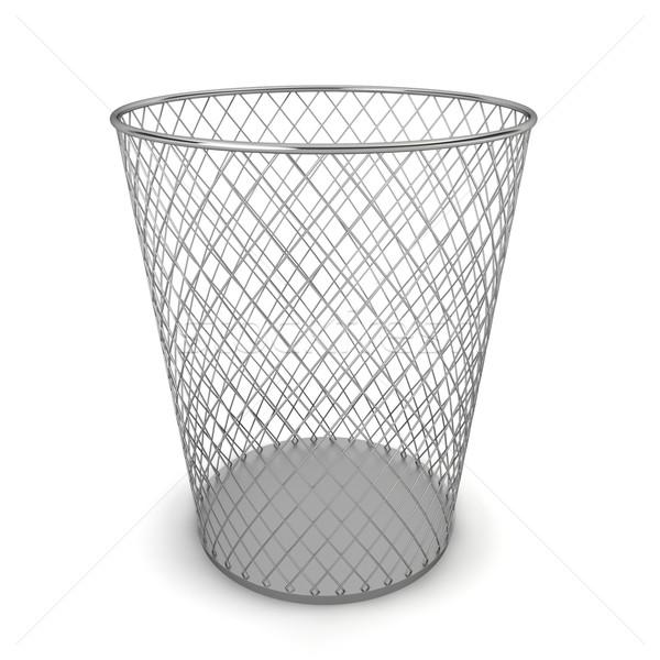 мусорное ведро 3d иллюстрации белый служба фон стали Сток-фото © montego