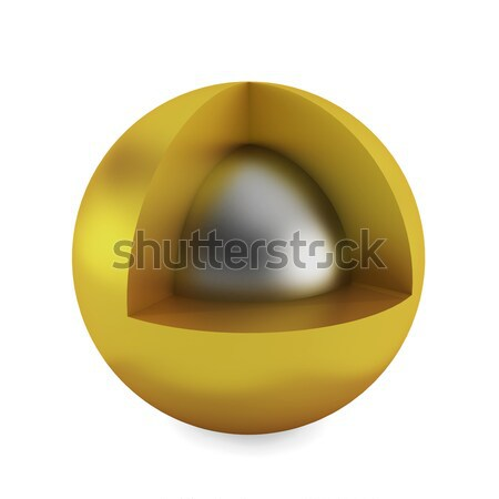 Cross section of sphere Stock photo © montego