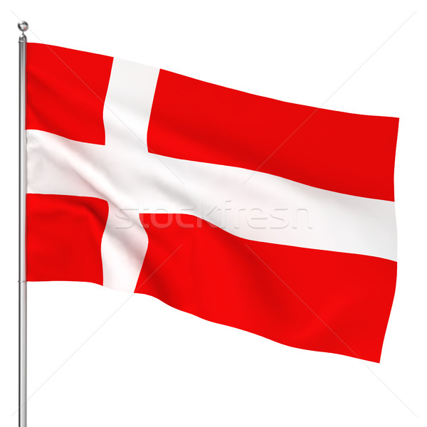 Danish flag Stock photo © montego
