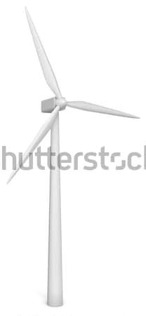 Wind energie generator 3d illustration witte technologie Stockfoto © montego