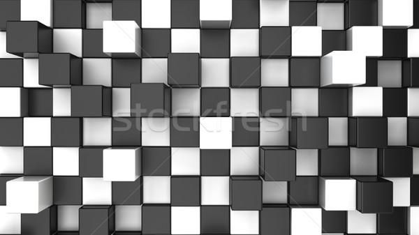 Abstract scatole diverso costruzione muro finestra Foto d'archivio © montego
