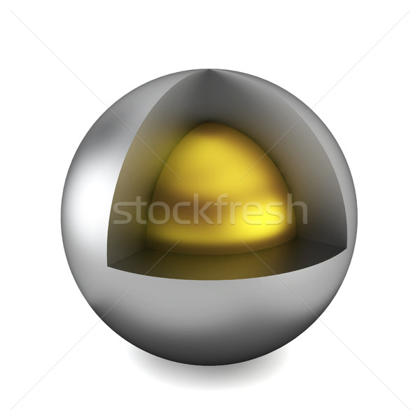 Cross section of sphere Stock photo © montego