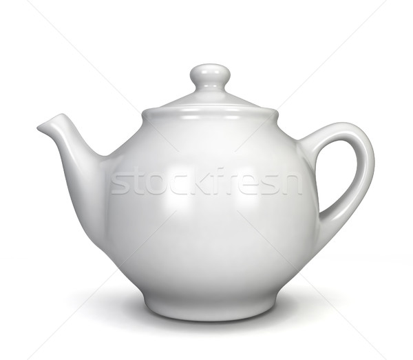 White teapot Stock photo © montego