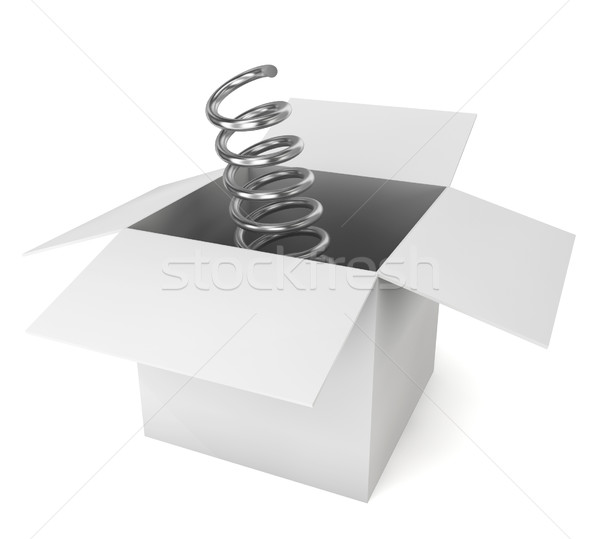 Metal spring come out of the box Stock photo © montego