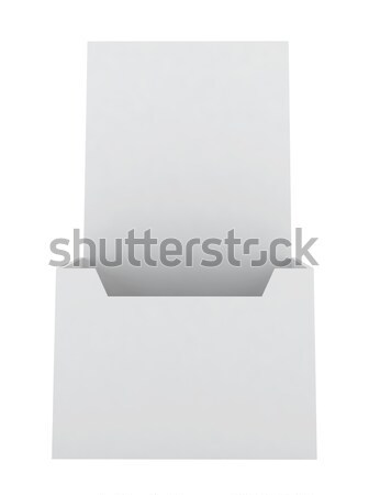 Brochure 3d illustration witte business teken communicatie Stockfoto © montego