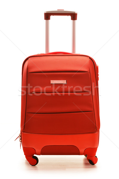 Red suitcase isolated on white Stock photo © monticelllo