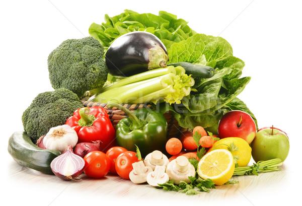 Sebze yalıtılmış beyaz gıda mutfak Stok fotoğraf © monticelllo