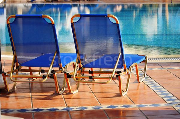 Yüzme havuzu başvurmak yaz zaman su Stok fotoğraf © monticelllo