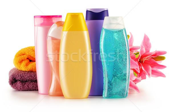 Plastikowe butelek ciało opieki kosmetyki zdrowia Zdjęcia stock © monticelllo