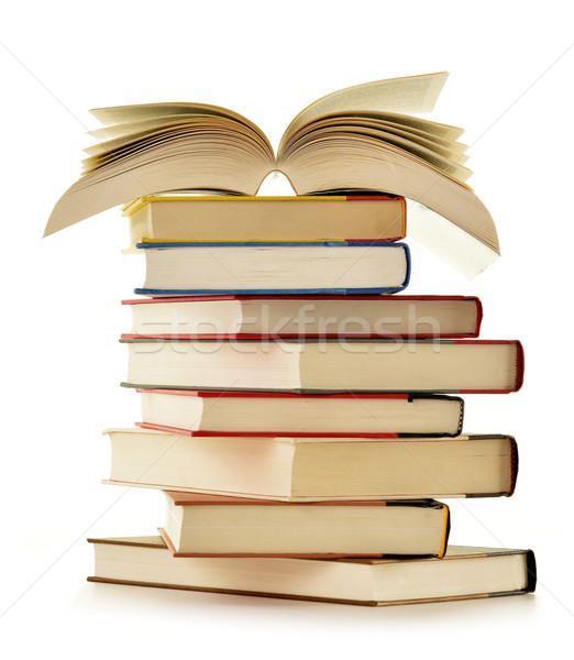Stack of books isolated on white background Stock photo © monticelllo